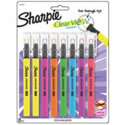 assorted color clear view highlighters image number 0