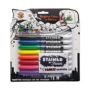stained brush tip permanent markers image number 0