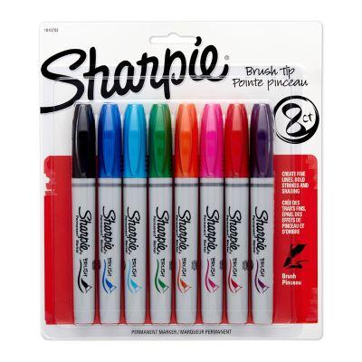 Sharpie Permanent Markers, Brush Tip