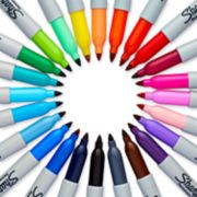 24 pack assorted color fine point sharpie markers image number 1