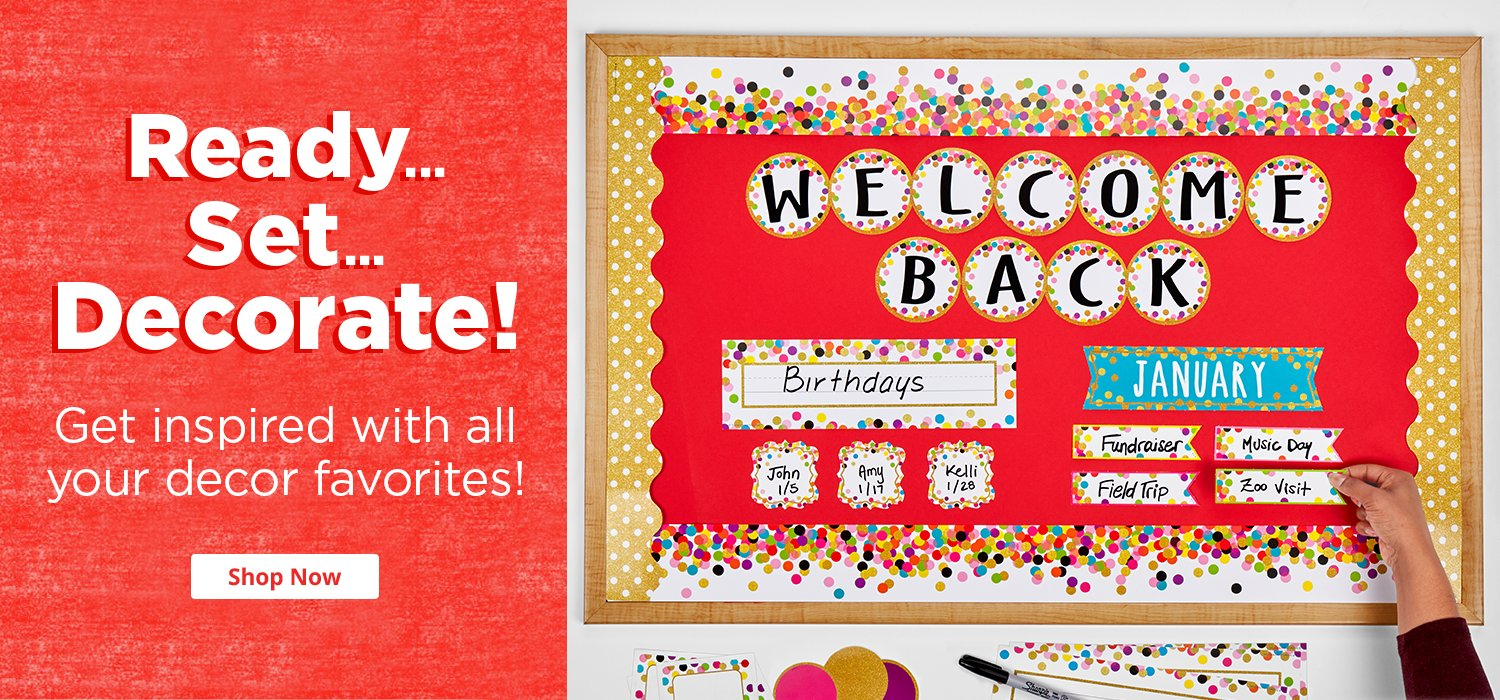 shop our huge selection of classroom decor including borders accents bulletin board sets