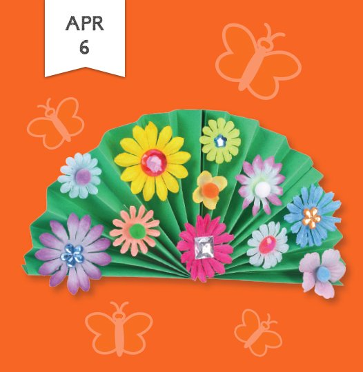 Join us Saturday April sixth to celebrate spring with a fun, flower-themed craft activity that makes children's imaginations bloom.