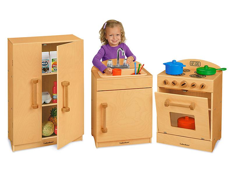 Toddler Hardwood Kitchen Set