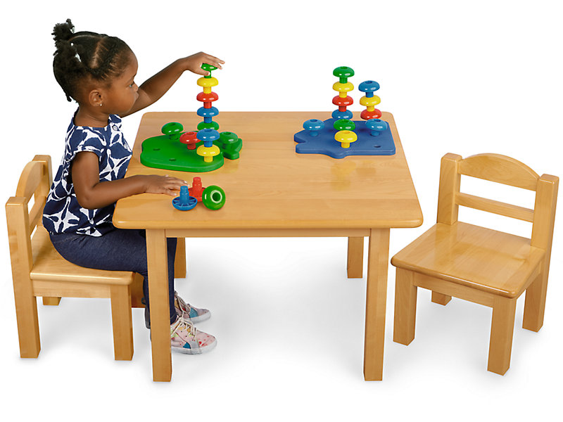 Toddler Hardwood Table Chairs Set At