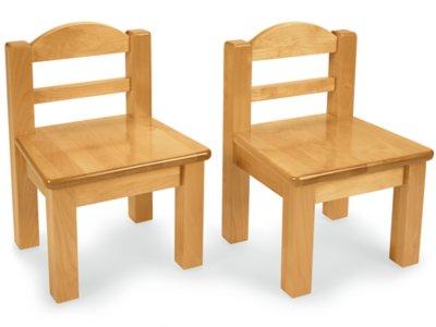 Extra Toddler Hardwood Chairs   Set Of 2