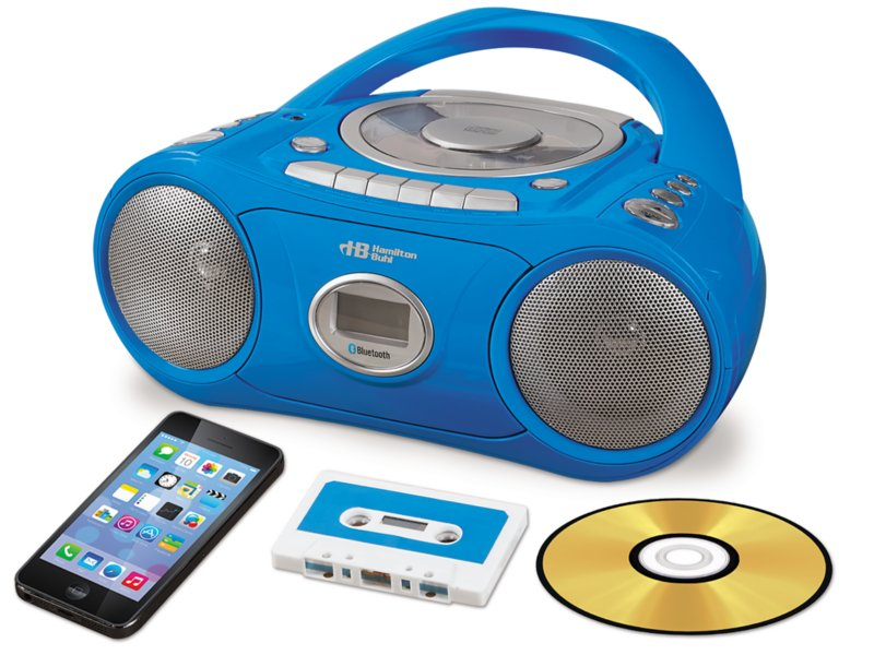 CD & Cassette Player with BLUETOOTH®