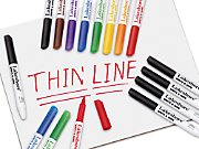 Write & Wipe Thin-Line Marker Packs