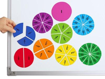 photograph regarding Printable Fraction Circles named Magnetic Portion Circles