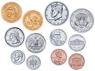 graphic about Large Printable Coins identified as U.S. Coin Accents