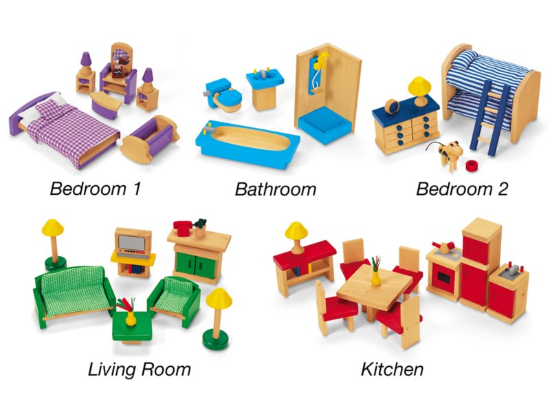 Play All Around Dollhouse Furniture At Lakeshore Learning