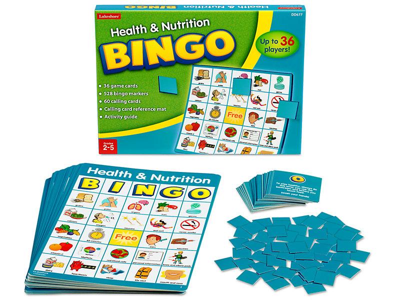 Health Nutrition Bingo At Lakeshore Learning