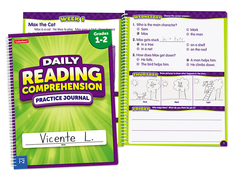 Reading Comprehension Daily Practice Journal - Gr  1-2