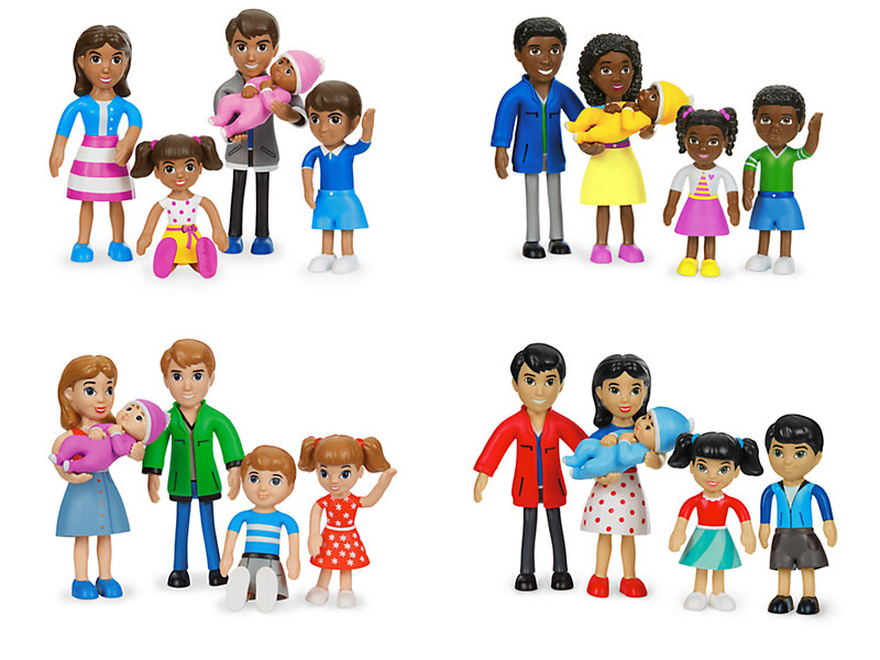 Lakeshore Pose & Play Families - Complete Set