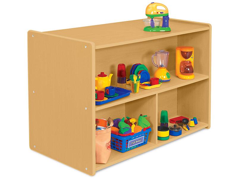 Heavy-Duty Preschool Double-Sided Storage Unit At