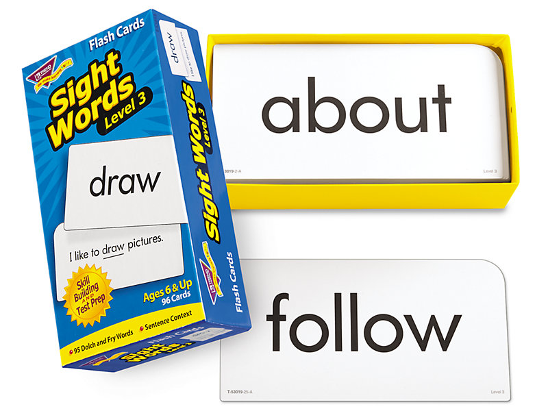 Sight-Words Flash Cards - Level 3