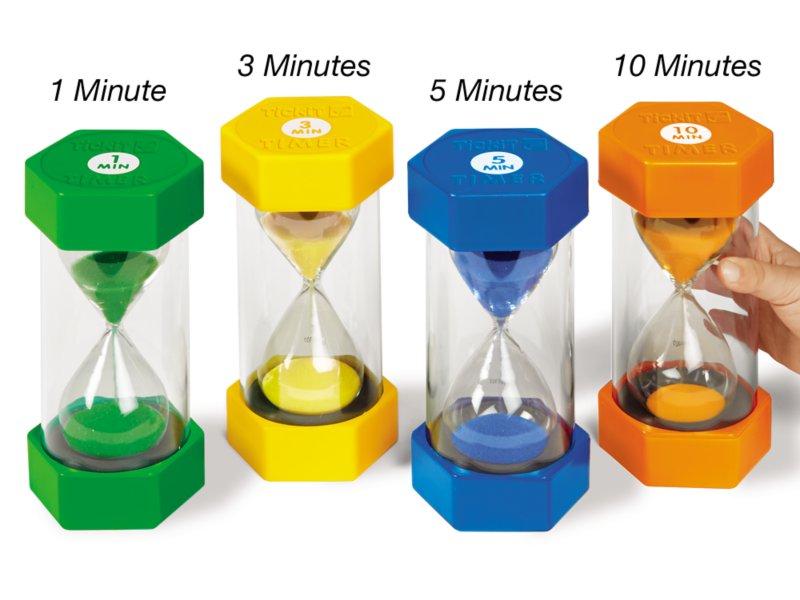 Set of 6 Sand Timers 30 Secs 5 Mins