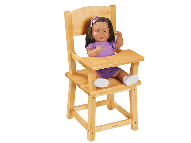 27357ee1ebe9 Lakeshore Hardwood Doll Highchair at Lakeshore Learning