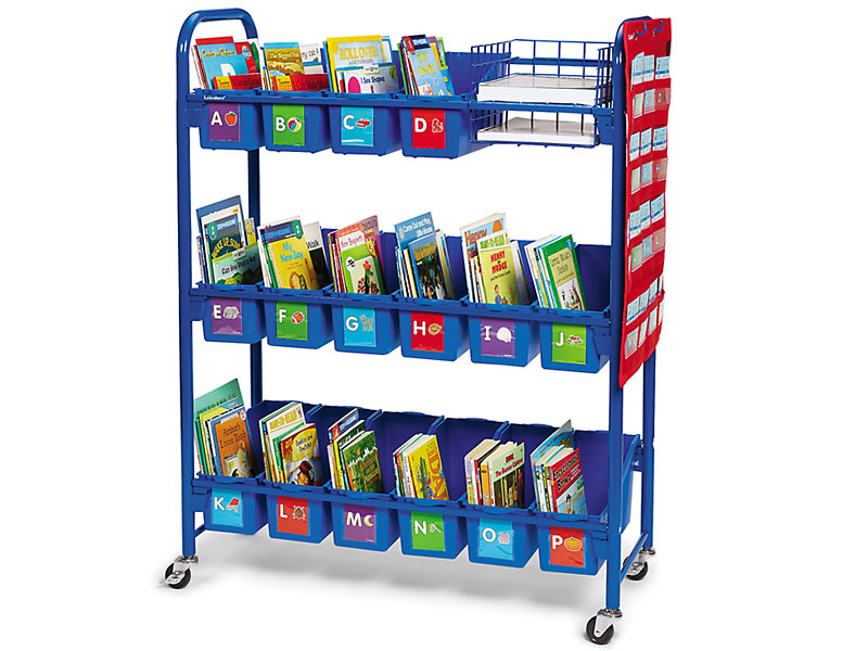 leveled library mobile storage cart at lakeshore learning. Black Bedroom Furniture Sets. Home Design Ideas