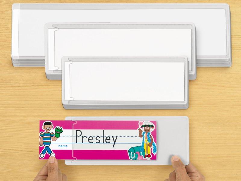 self adhesive nameplate sleeves set of 12 at lakeshore learning