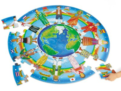 children of the world floor puzzle at lakeshore learning