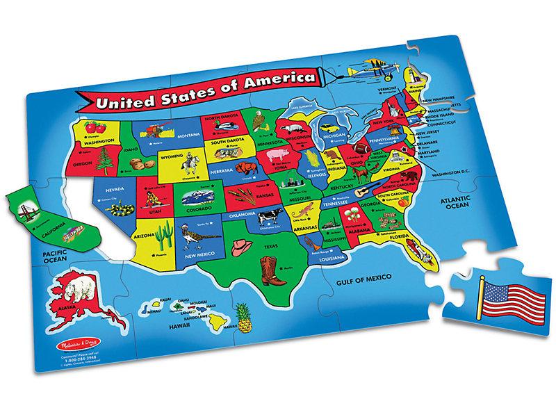 U.S.A. Map Floor Puzzle