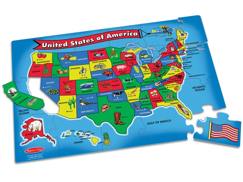 U.S.A. Map Floor Puzzle on us map zoom in, united states zoomed in, europe map zoomed in, world map zoomed in,