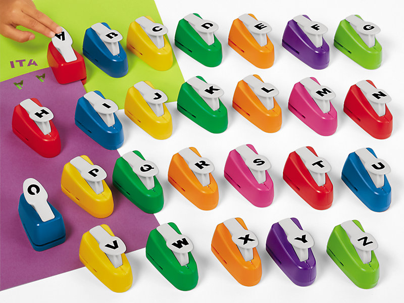 Letter Hole Puncher.Easy Punch Alphabet