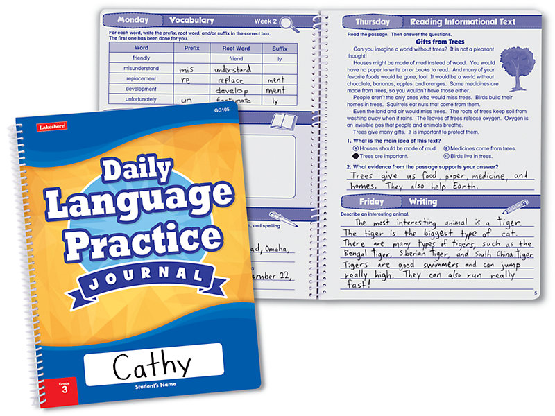Daily Language Practice Journal - Gr  3