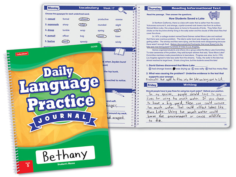 Daily Language Practice Journal - Gr  5