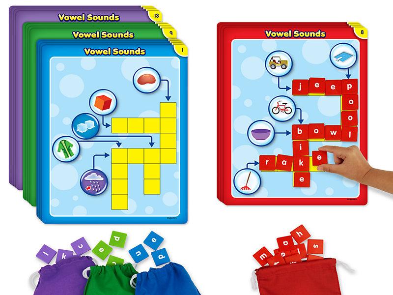 Vowel Sounds Crossword Puzzles Activity Center