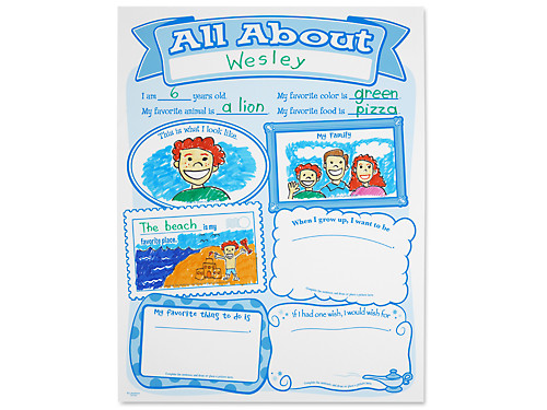 All About Me Posters Set Of 30 At Lakeshore Learning