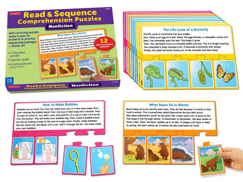 Nonfiction Read & Sequence Comprehension Puzzles