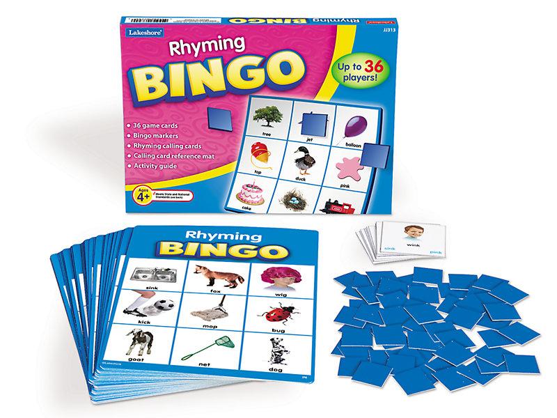 rhyming bingo at lakeshore learning