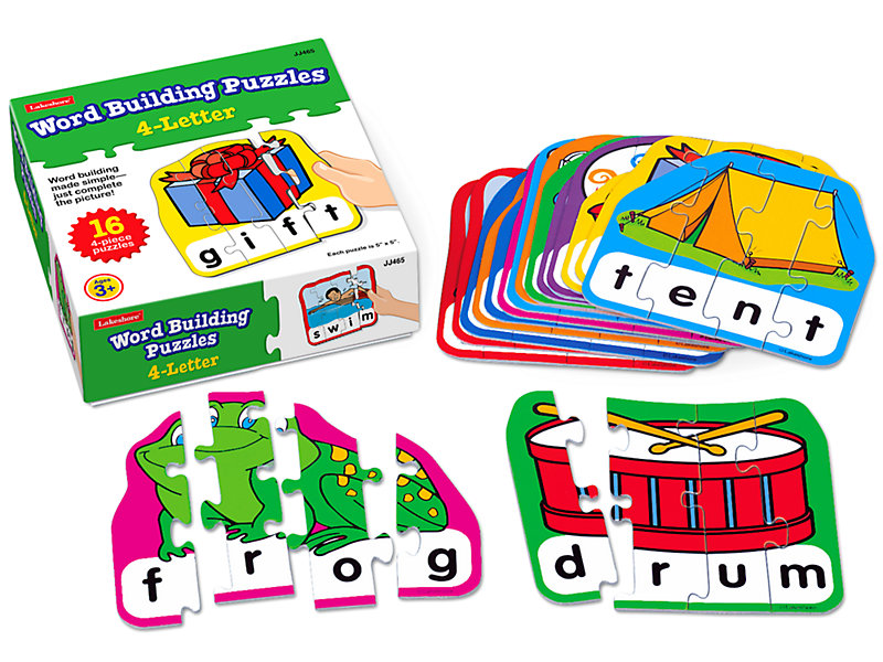 Word Building Puzzles - 4-Letter Words at Lakeshore Learning