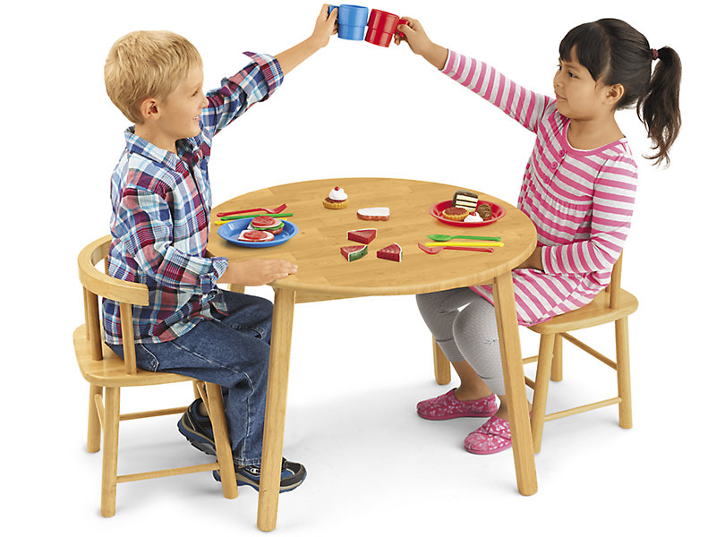 Butcher Block Table And Chair Set At Lakeshore Learning