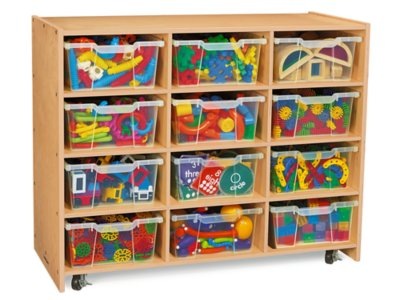 Beau Classic Birch Big Bins See Inside Storage Unit   12 Cubby At Lakeshore  Learning