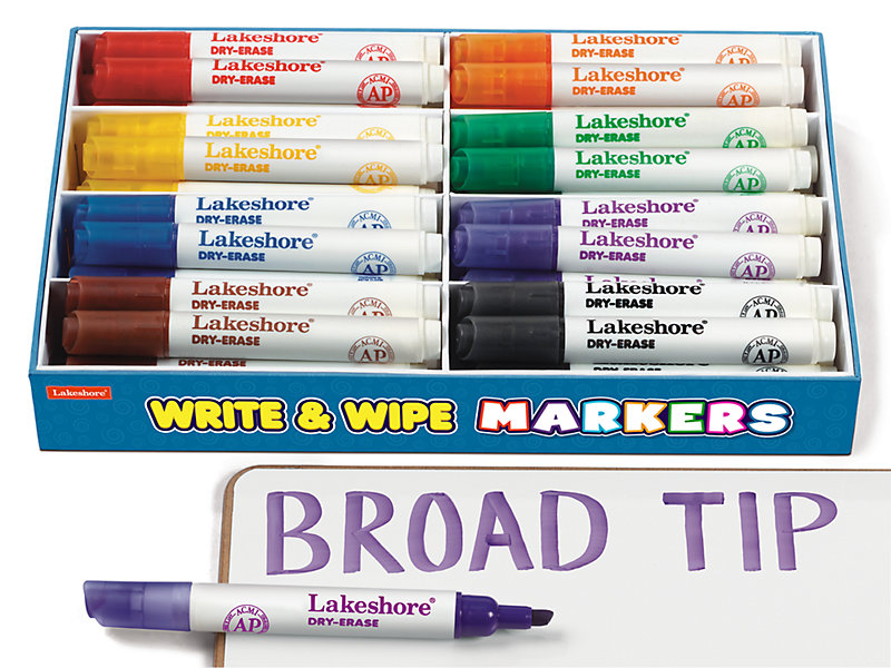 write wipe broad tip markers class pack at lakeshore learning