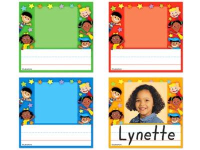 "photograph regarding Free Printable Cubby Name Tags known as Lakeshore Kidsâ""¢ Photograph Nameplates"