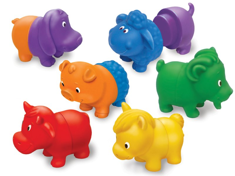 Mix & Match Farm Animals - Set of 6 at Lakeshore Learning