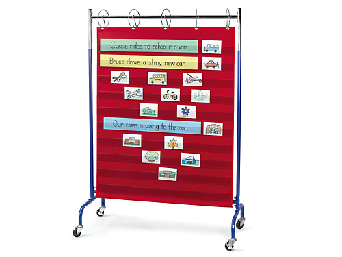 Adjustable pocket chart stand at lakeshore learning