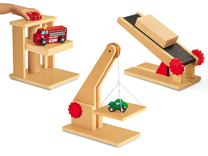 Block Play Simple Machines Complete Set At Lakeshore Learning