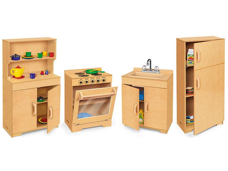 Best Pretend Kitchen Set: Lakeshore Hardwood Kitchen Set At Lakeshore Learning