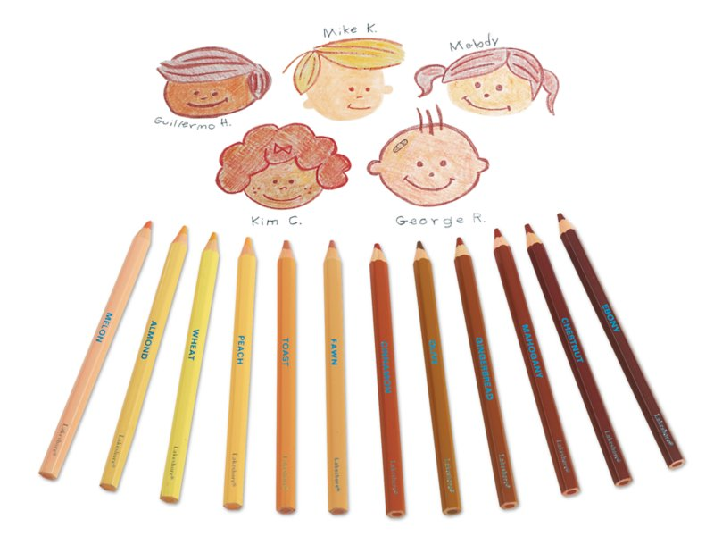 People Colors® Jumbo Colored Pencils