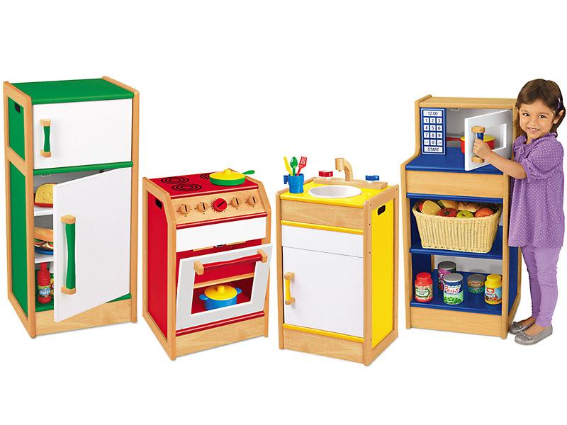 Pretend & Play Hardwood Kitchen Set At Lakeshore Learning