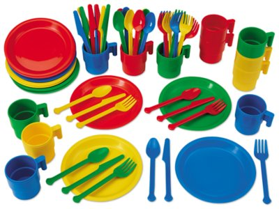 Indestructible Play Dishes 12 Service Set At Lakeshore