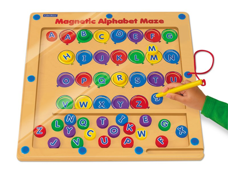 Magnetic Alphabet Maze At Lakeshore Learning