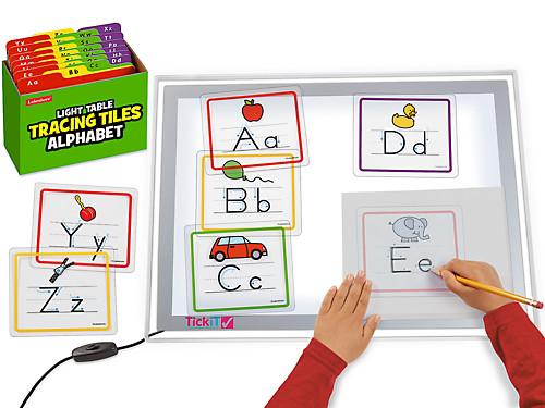 Light Table Alphabet Tracing Tiles