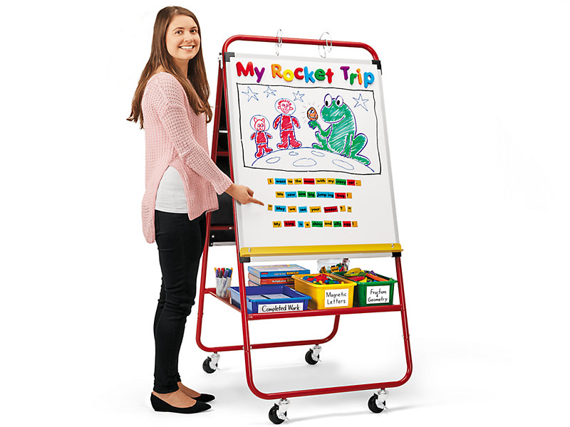 all purpose mobile teaching easel elementary at lakeshore learning