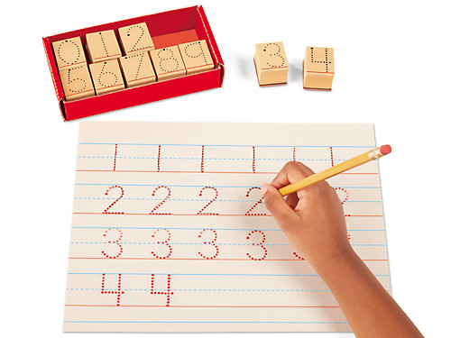 Follow-The-Dots Number Stamps At Lakeshore Learning
