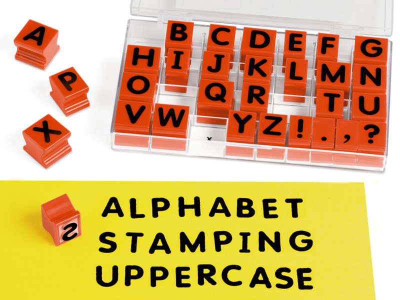 Learning Resources Uppercase Alphabet Stamps LER0597